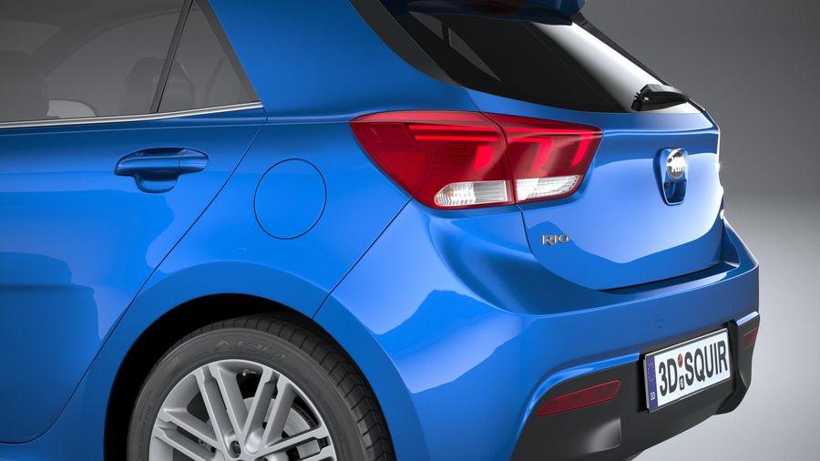 Kia Rio 2021 royalty-free 3d model - Preview no. 7