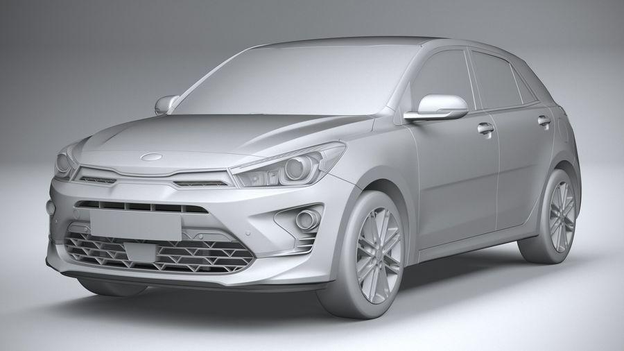 Kia Rio 2021 royalty-free 3d model - Preview no. 21