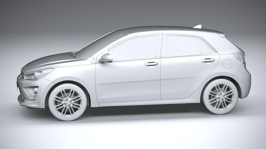 Kia Rio 2021 royalty-free 3d model - Preview no. 23