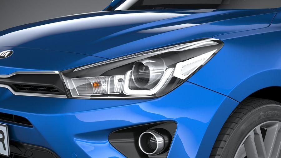 Kia Rio 2021 royalty-free 3d model - Preview no. 15