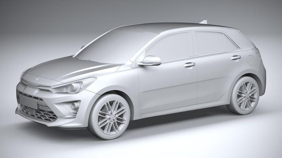 Kia Rio 2021 royalty-free 3d model - Preview no. 20