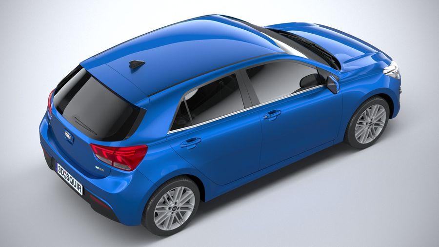 Kia Rio 2021 royalty-free 3d model - Preview no. 11