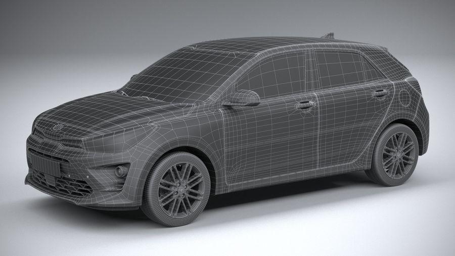 Kia Rio 2021 royalty-free 3d model - Preview no. 29