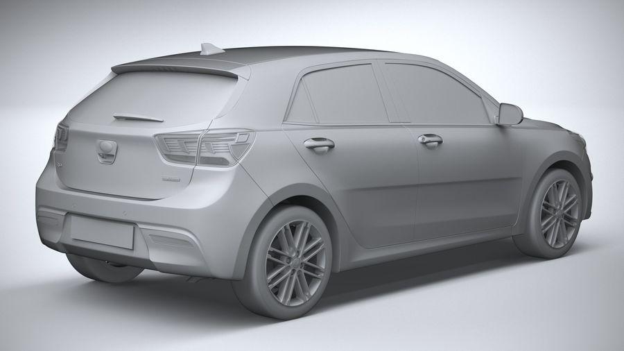 Kia Rio 2021 royalty-free 3d model - Preview no. 26