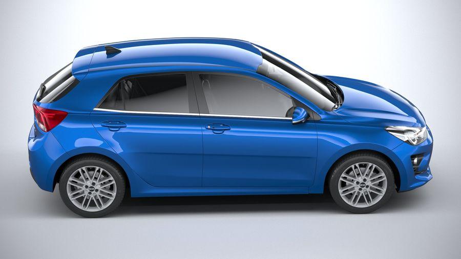 Kia Rio 2021 royalty-free 3d model - Preview no. 12