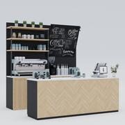 Coffee Bar, Island 3d model