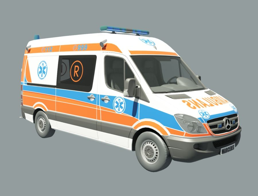 ambulancia royalty-free modelo 3d - Preview no. 3