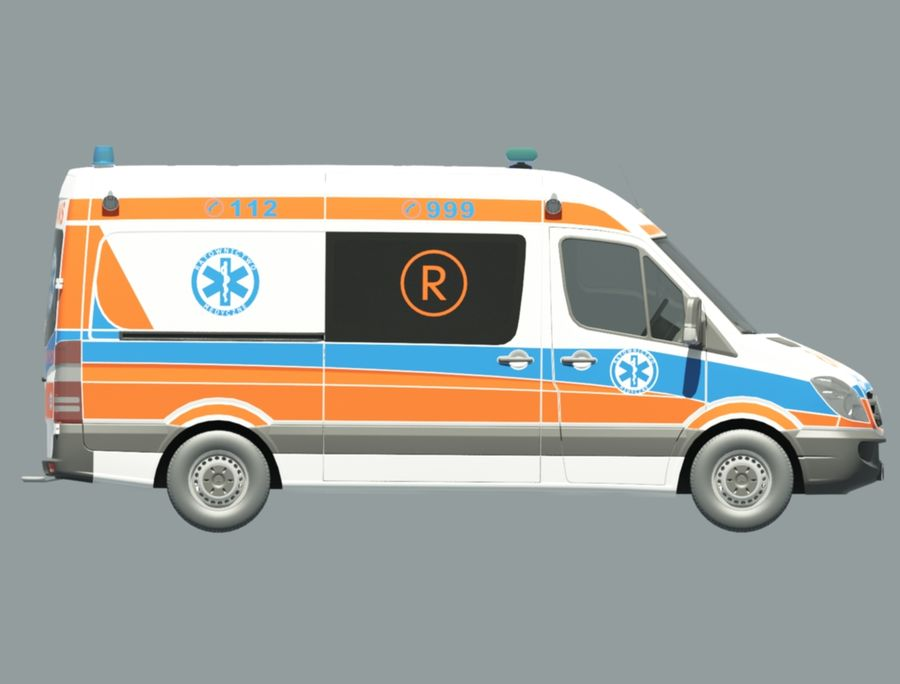 ambulancia royalty-free modelo 3d - Preview no. 4