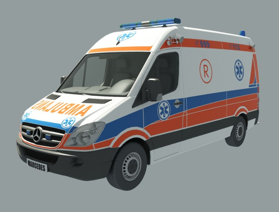 ambulancia royalty-free modelo 3d - Preview no. 1