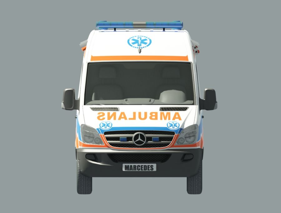 ambulancia royalty-free modelo 3d - Preview no. 2