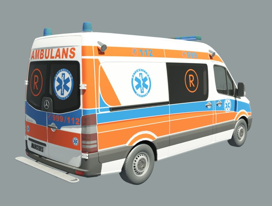 ambulancia royalty-free modelo 3d - Preview no. 5