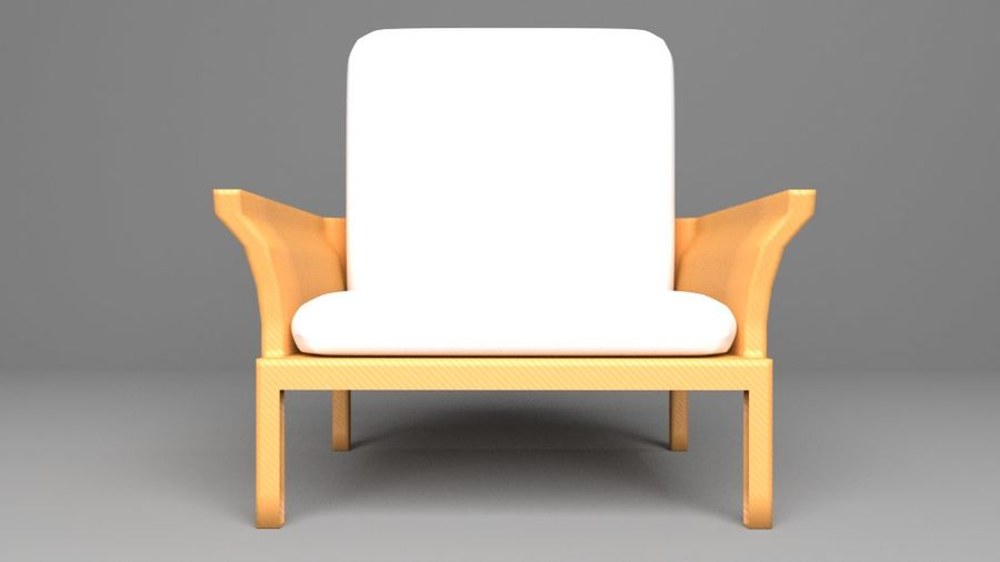 Soffa enkelstol 5 royalty-free 3d model - Preview no. 3