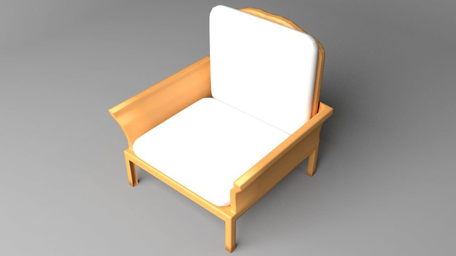 Soffa enkelstol 5 royalty-free 3d model - Preview no. 2