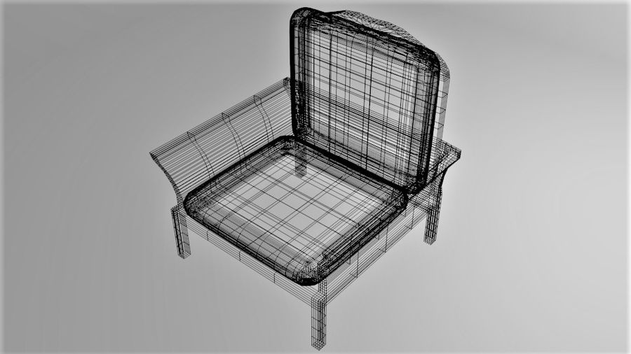 Soffa enkelstol 5 royalty-free 3d model - Preview no. 8