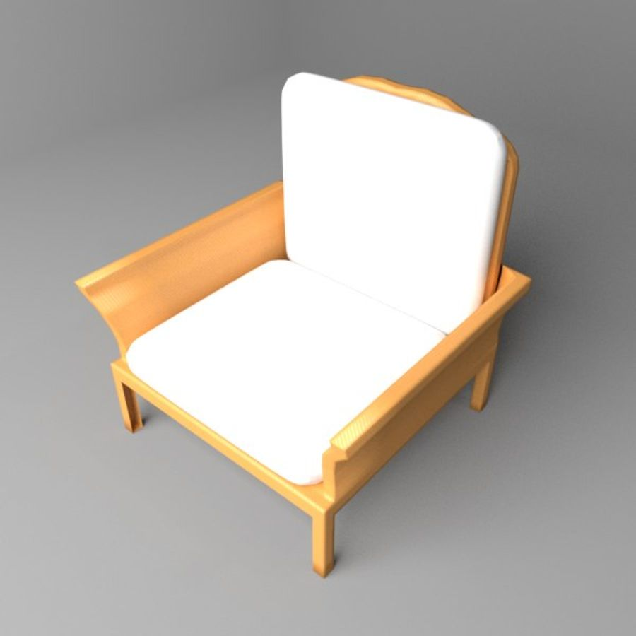 Soffa enkelstol 5 royalty-free 3d model - Preview no. 1