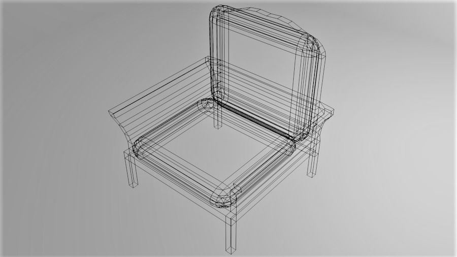 Soffa enkelstol 5 royalty-free 3d model - Preview no. 7