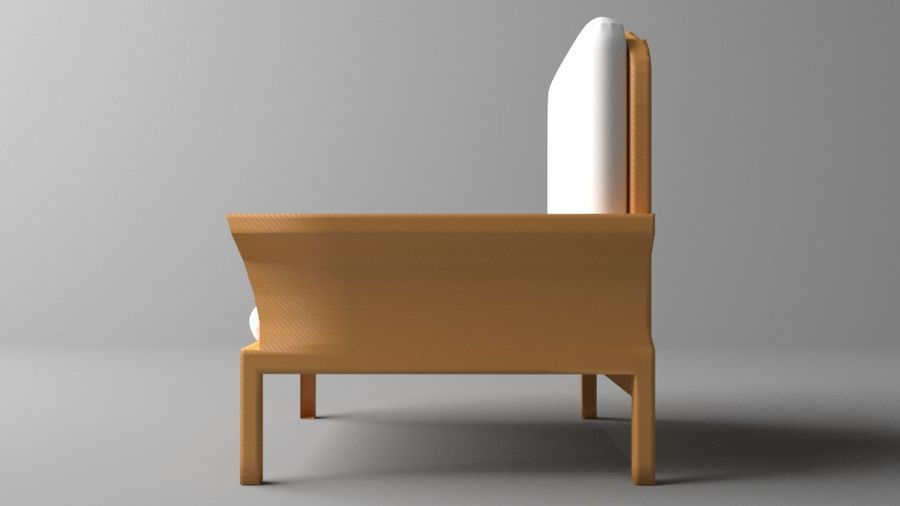 Soffa enkelstol 5 royalty-free 3d model - Preview no. 5