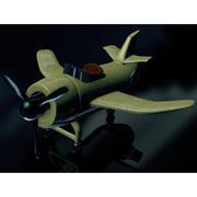 Avión de dibujos animados modelo 3d
