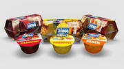 Gelatine - Gelatin several fruits flavors - with 4 pack cases 3d model