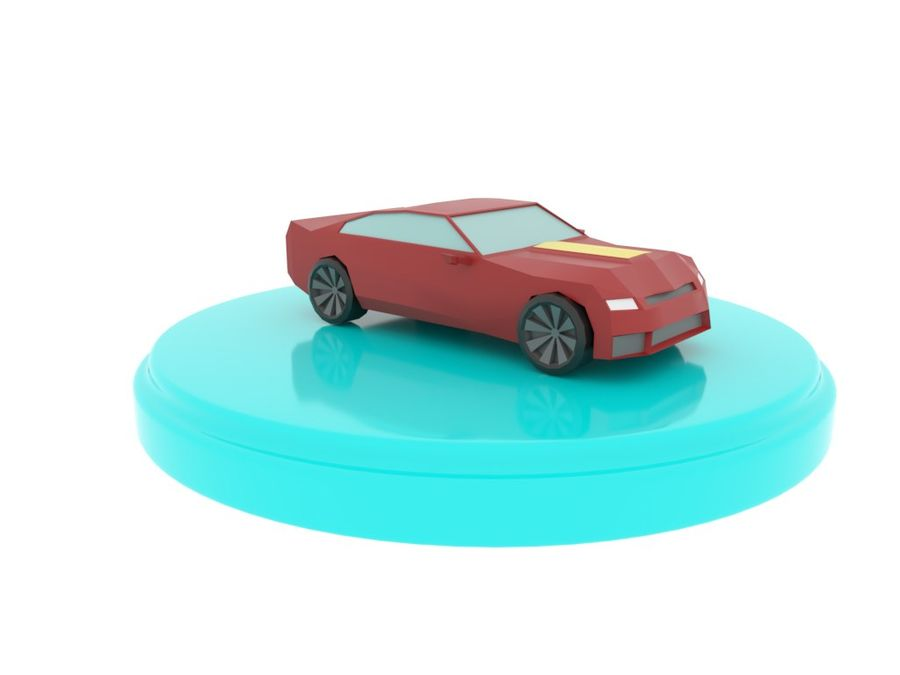 Chevrolet Camaro Cartoon royalty-free 3d model - Preview no. 1