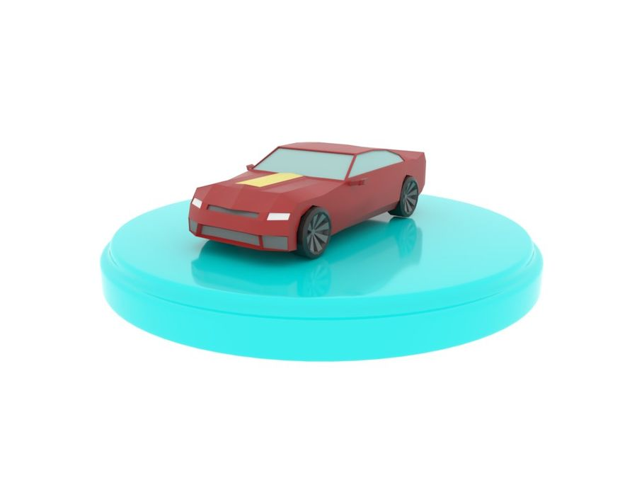 Chevrolet Camaro Cartoon royalty-free 3d model - Preview no. 3