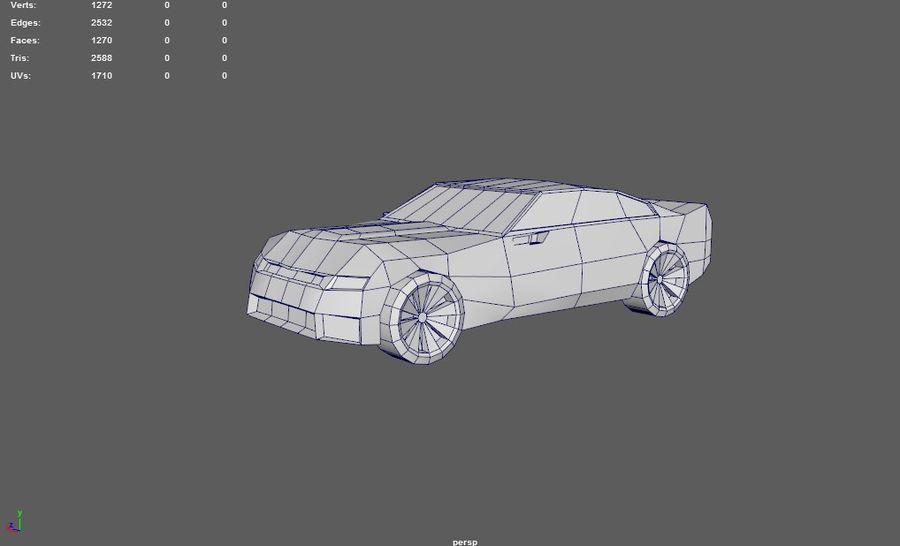 Chevrolet Camaro De Dibujos Animados royalty-free modelo 3d - Preview no. 2