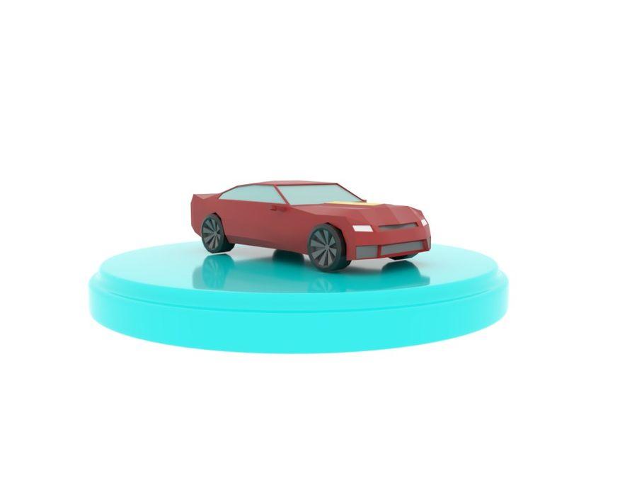Chevrolet Camaro De Dibujos Animados royalty-free modelo 3d - Preview no. 6