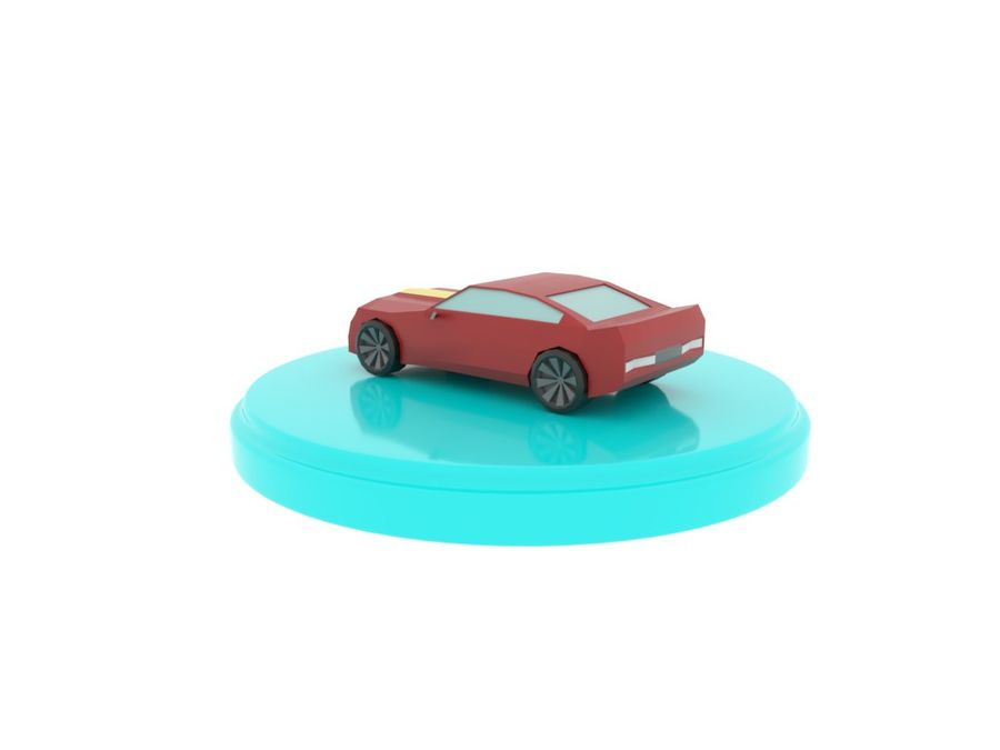 Chevrolet Camaro Cartoon royalty-free 3d model - Preview no. 4