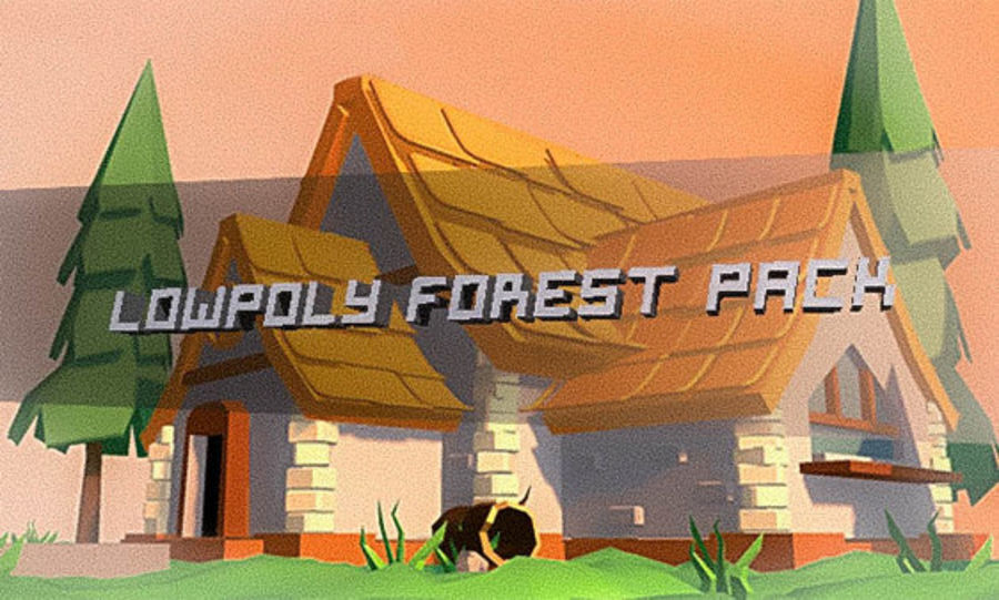 Low Poly Forest 90 assets royalty-free 3d model - Preview no. 1