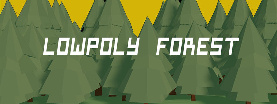 Low Poly Forest 90 assets royalty-free 3d model - Preview no. 7