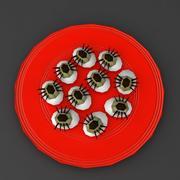 Cadılar Bayramı gıda örümcek yumurta düşük Poli 3d model