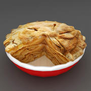 Food Hot Apple Pie lowpoly 3d model