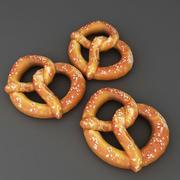 Gıda Yumuşak Pretzel düşük poli 3d model