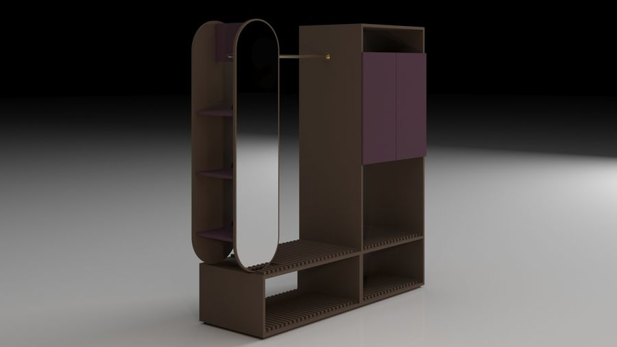 Bedroom Furniture royalty-free 3d model - Preview no. 9