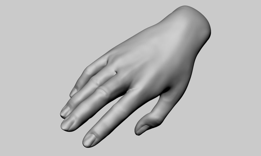 Female Hand Printable royalty-free 3d model - Preview no. 1