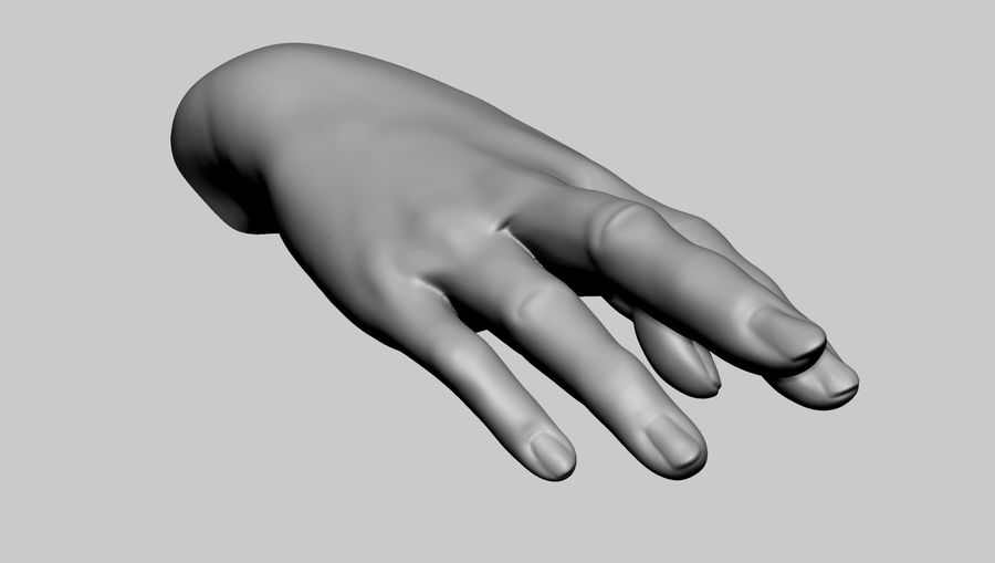 Female Hand Printable royalty-free 3d model - Preview no. 3