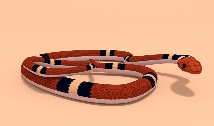 Scarlet King snake royalty-free 3d model - Preview no. 4