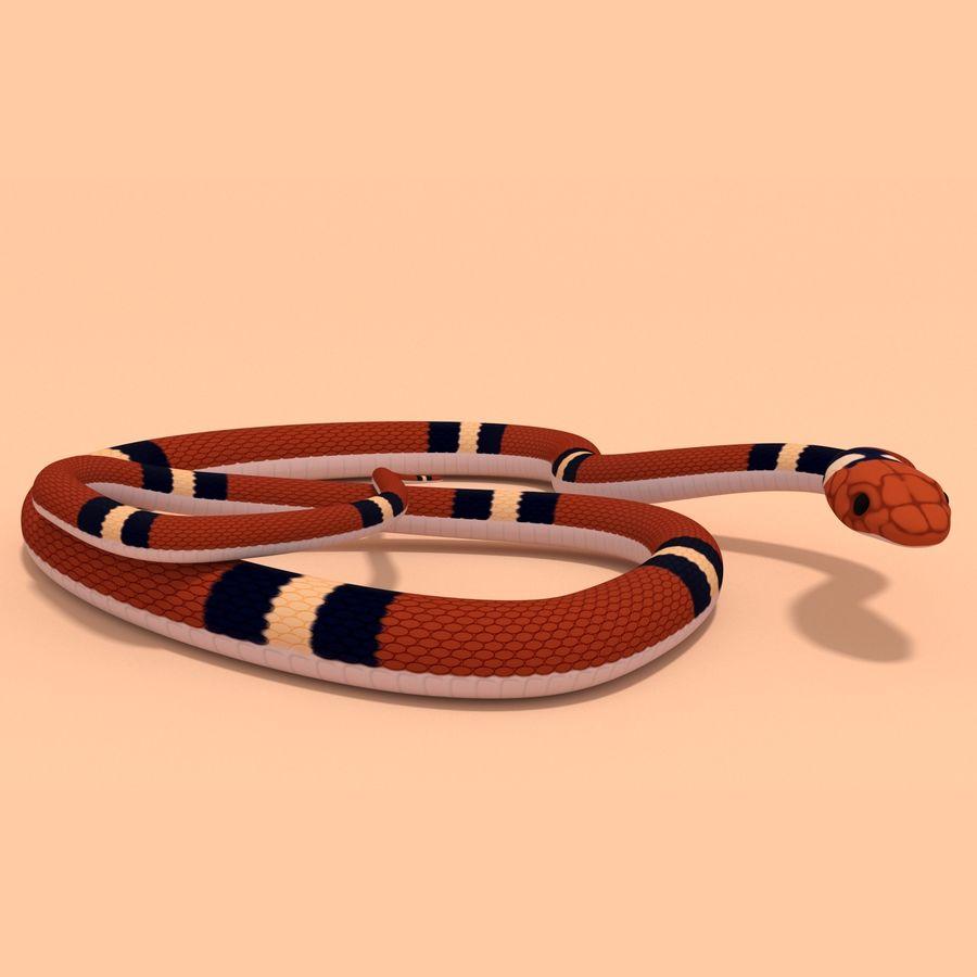 Scarlet King snake royalty-free 3d model - Preview no. 1