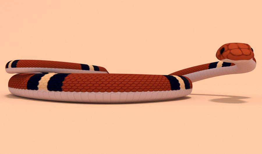 Scarlet King snake royalty-free 3d model - Preview no. 8