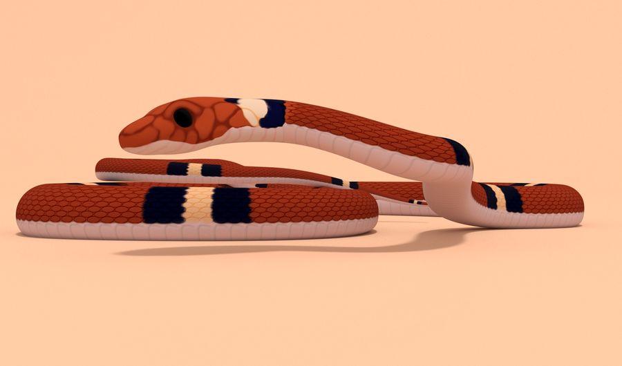 Scarlet King snake royalty-free 3d model - Preview no. 9