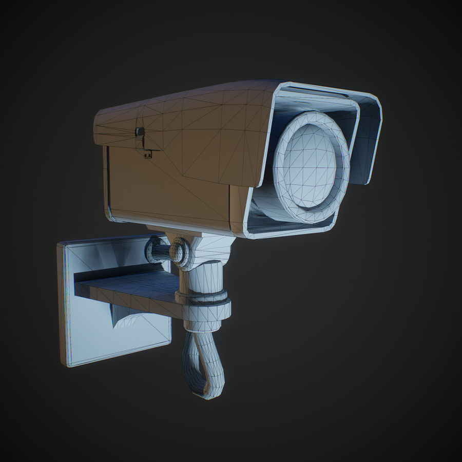 Low Poly Surveillance Camera royalty-free 3d model - Preview no. 4