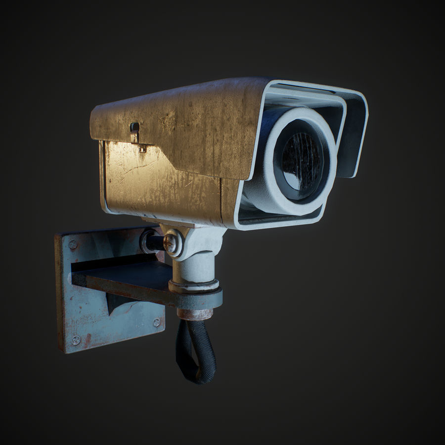 Low Poly Surveillance Camera royalty-free 3d model - Preview no. 3