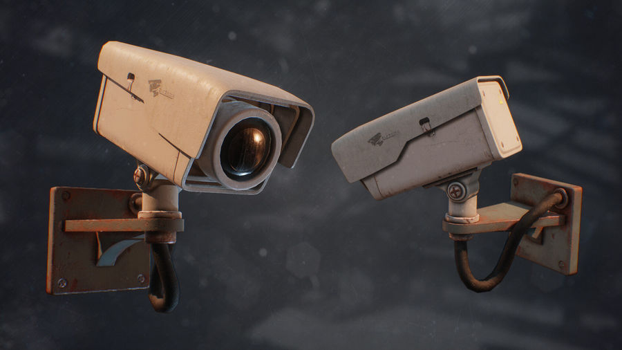 Low Poly Surveillance Camera royalty-free 3d model - Preview no. 1