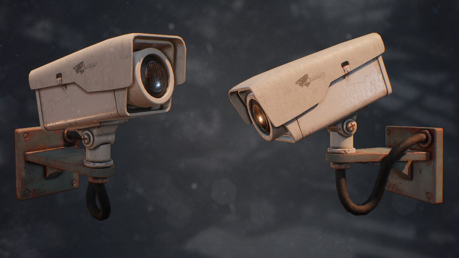 Low Poly Surveillance Camera royalty-free 3d model - Preview no. 5