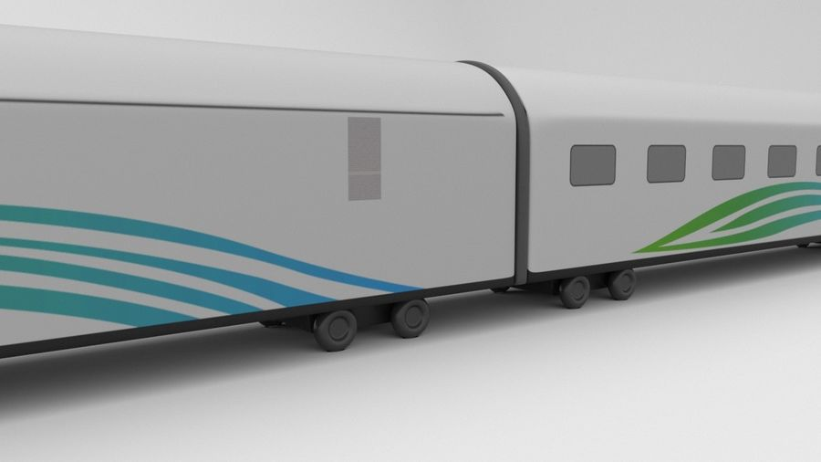 TRAIN royalty-free 3d model - Preview no. 3