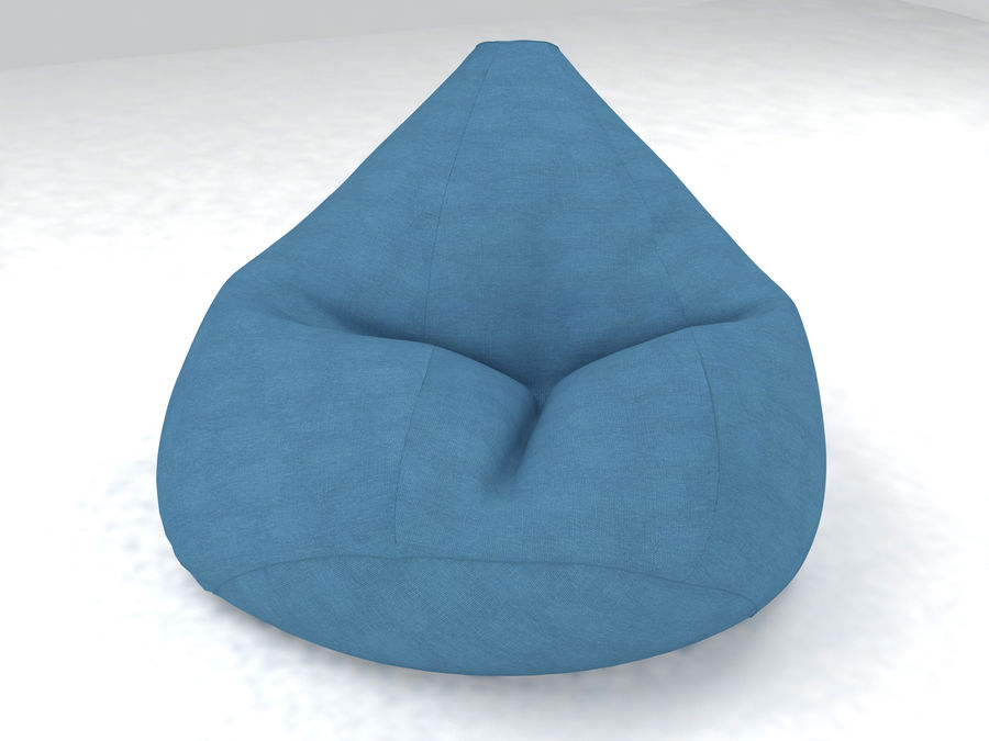 Bean Bag chair royalty-free 3d model - Preview no. 7