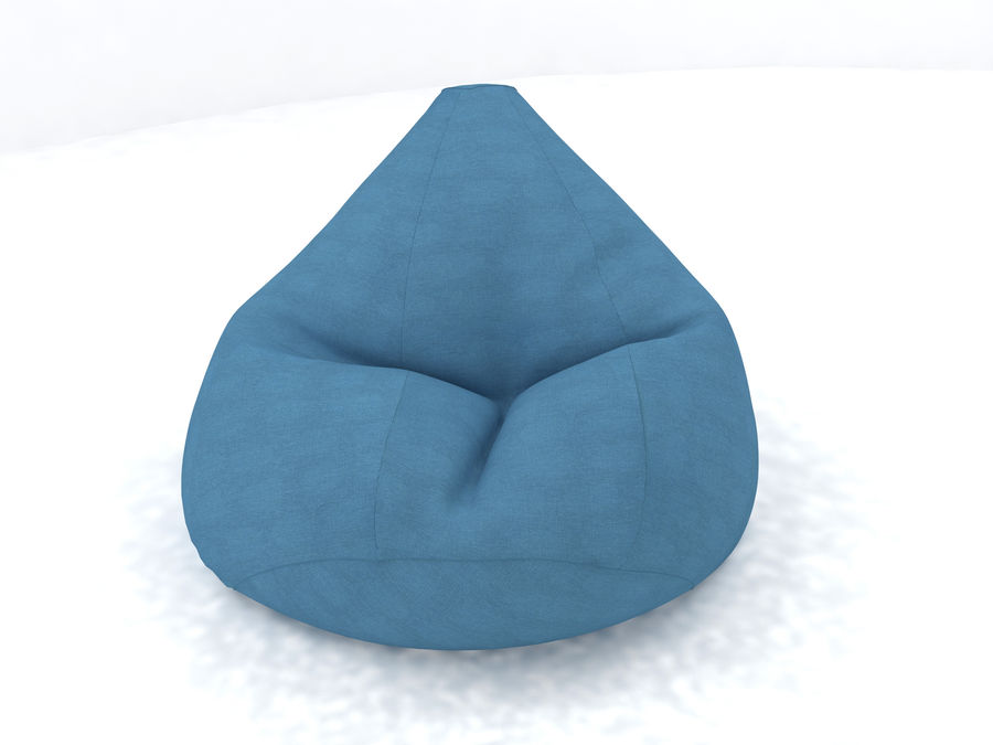 Bean Bag chair royalty-free 3d model - Preview no. 3