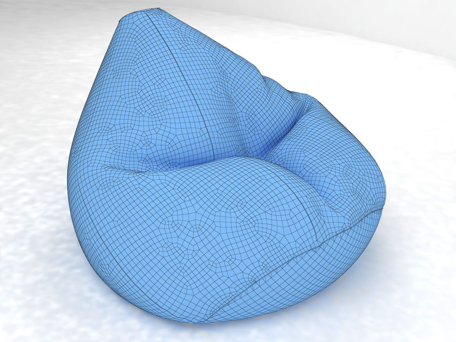 Bean Bag chair royalty-free 3d model - Preview no. 2