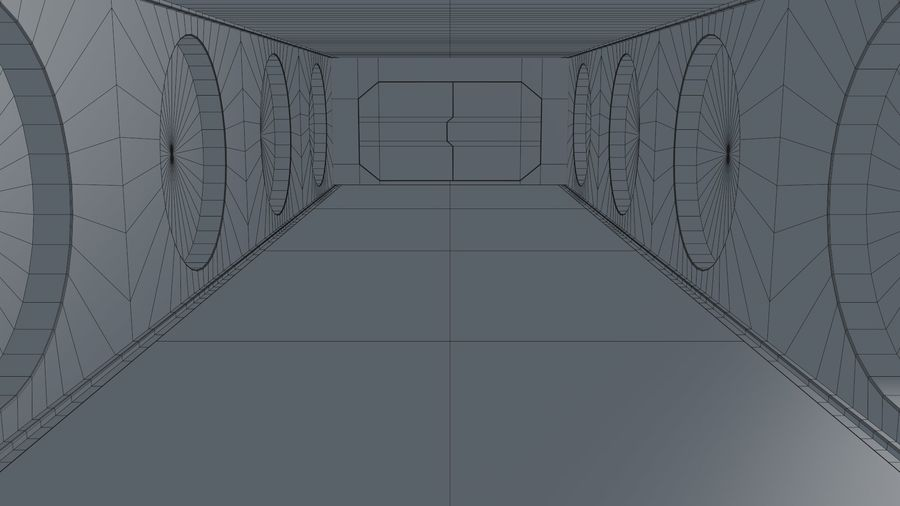 Sci Fi Corridor royalty-free 3d model - Preview no. 16