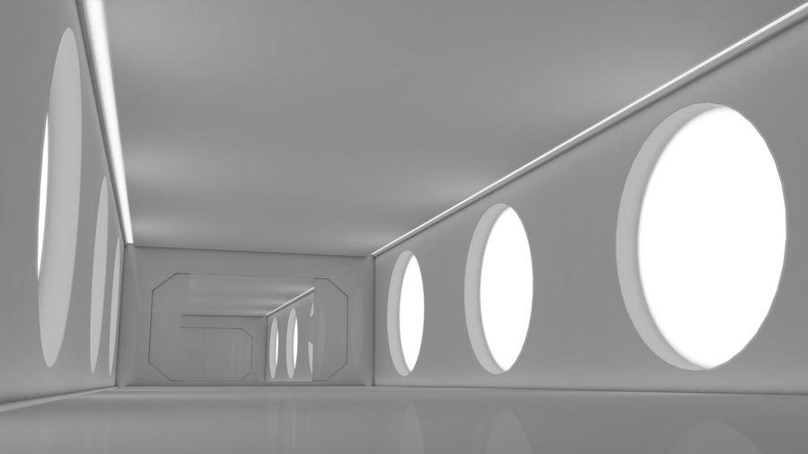 Sci Fi Corridor royalty-free 3d model - Preview no. 10